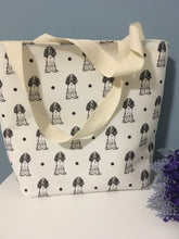 Load image into Gallery viewer, Springer spaniel, tote bag, storage