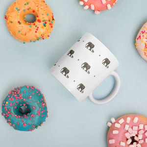 Elephant mug, mug and coaster set, gift idea