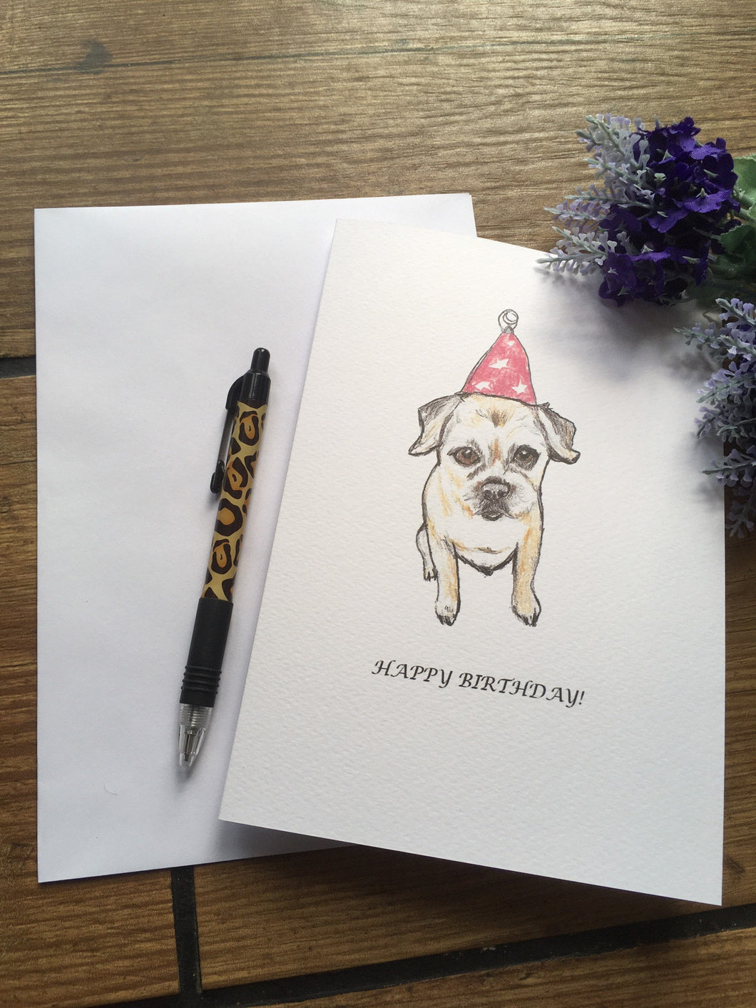 Border terrier birthday card, greetings card
