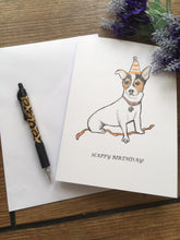 Load image into Gallery viewer, Jack Russell birthday card, greetings card