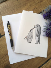 Load image into Gallery viewer, Penguin, baby penguin, Mother's Day, card, greetings card, for penguin lovers, penguin gift