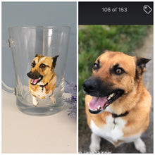 Load image into Gallery viewer, Pet portrait, beer glass, beer stein, for beer lovers, for beer drinkers, for pet owners, for animal lovers, beer gift, pet portrait gift