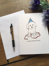 Load image into Gallery viewer, Bichon frise birthday card