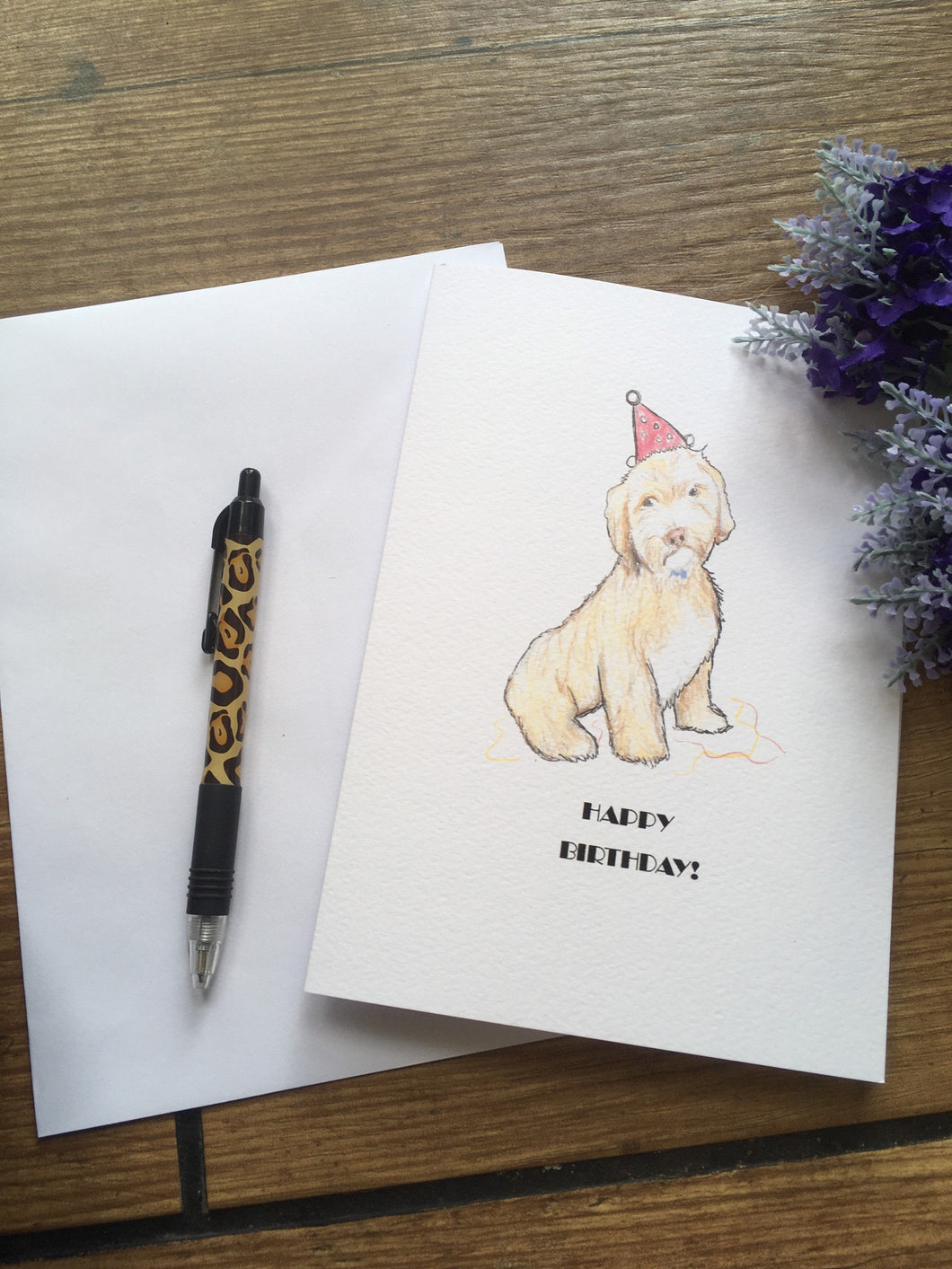 Cockapoo birthday card, for cockapoo lovers, for dog lovers, cockapoo gift