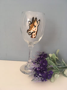 Giraffe wine glass, gin glass, gift idea