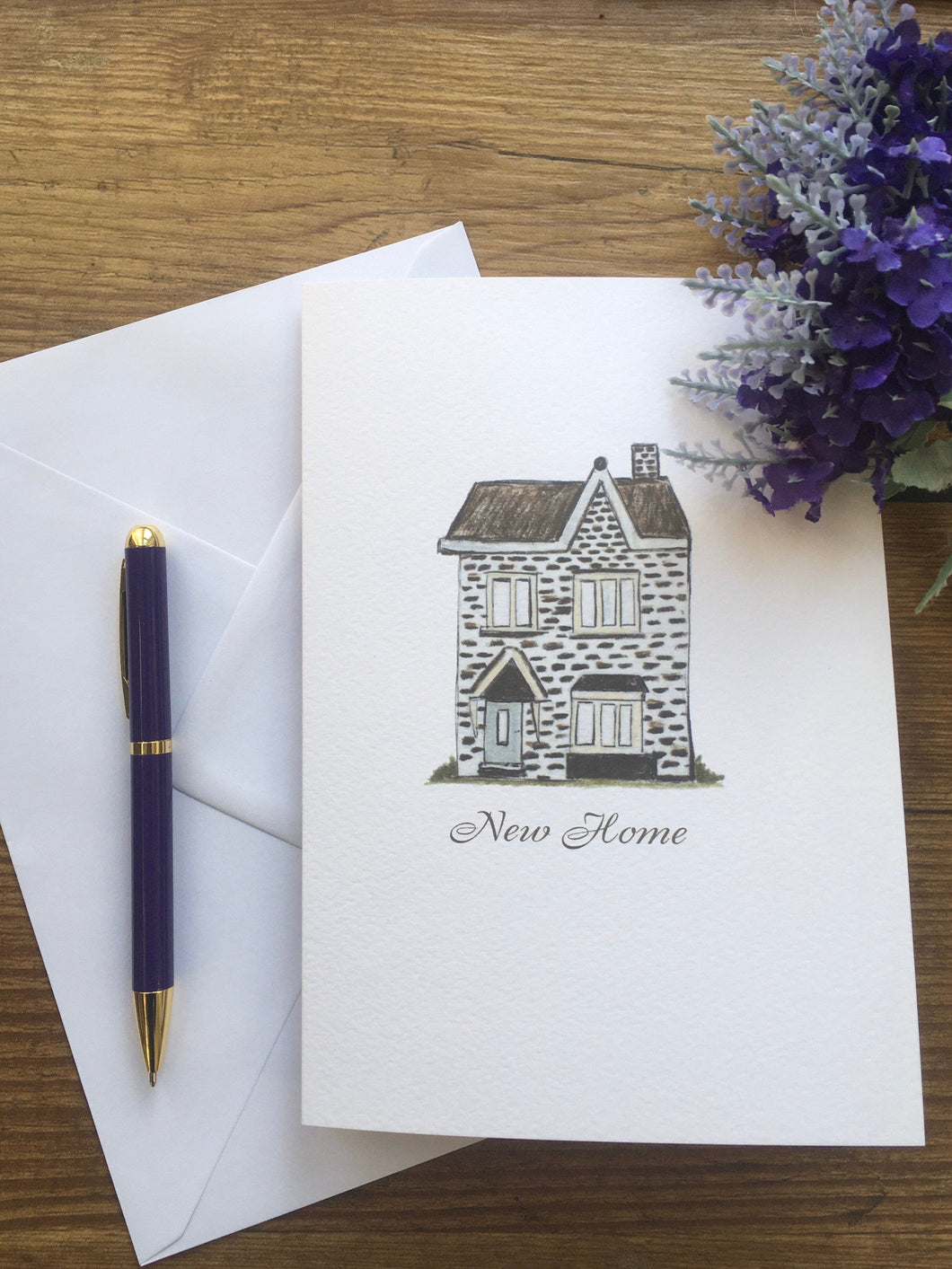 New home card, greetings card, for new home owners