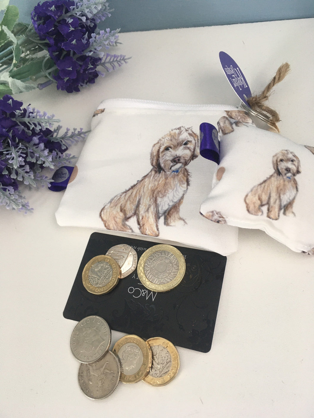 Cockapoo, purse, keyring, gift set,for cockapoo lovers, cockapoo gift , coin purse