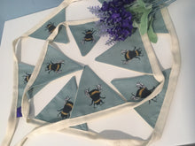 Load image into Gallery viewer, Bee, bumble bee, bunting, garland, for bee lovers, bee gift, bee decor