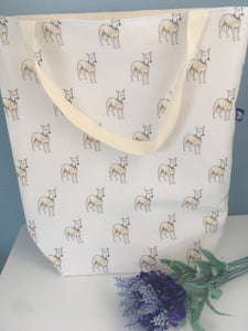 Whippet, bag, tote bag, for whippet lovers, whippet gift