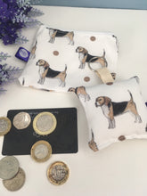 Load image into Gallery viewer, Beagle purse and keyring set, gift set, stocking filler