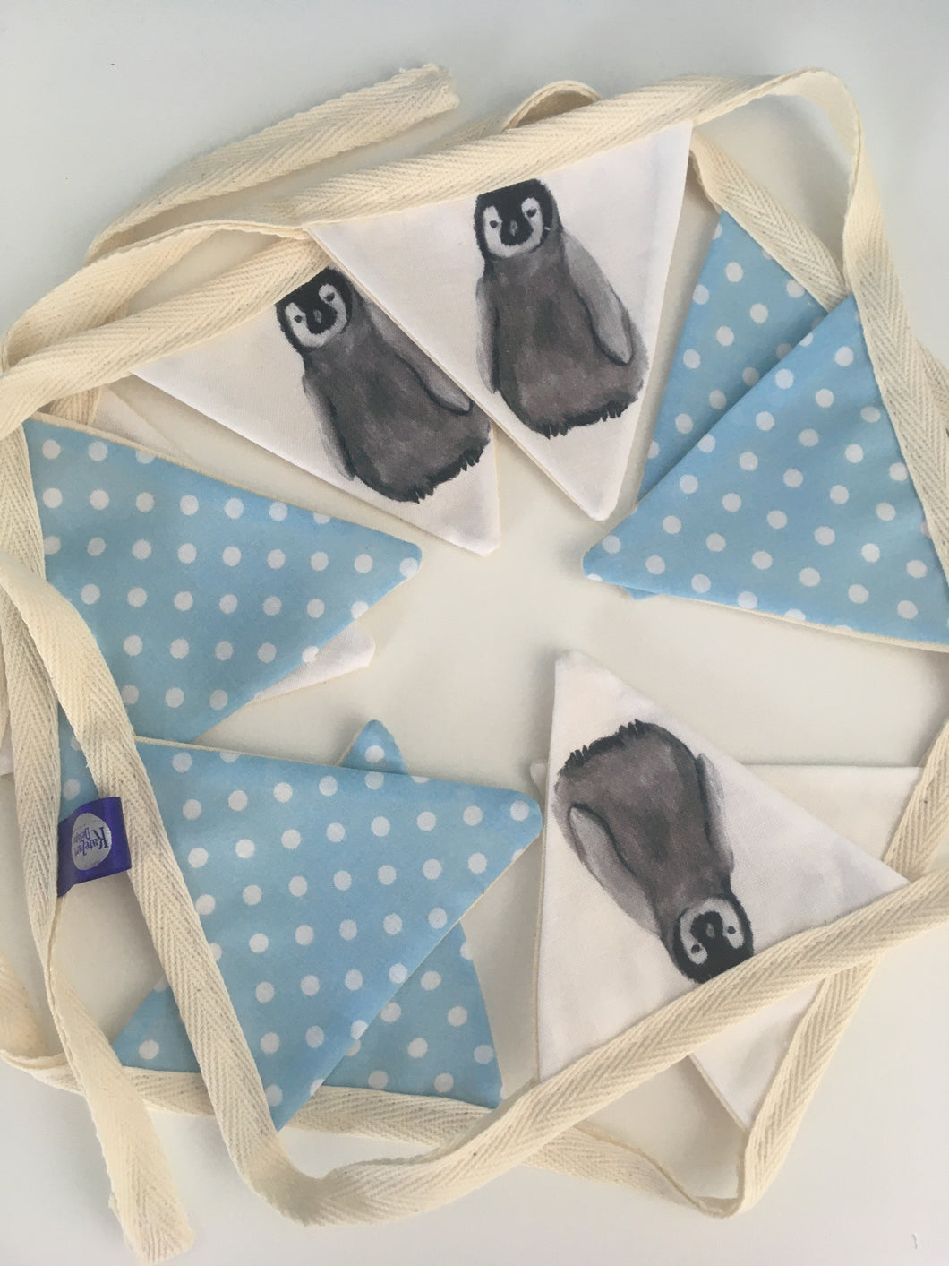 Penguin, baby penguin, bunting, garland, nursery decor