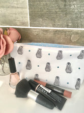 Load image into Gallery viewer, Penguin , baby penguin, makeup bag, cosmetics bag,  pencil case, wash bag