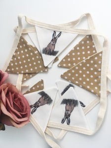 Hare bunting, garland, decoration