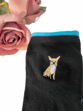 Load image into Gallery viewer, Chihuahua socks, ladies socks, ankle socks, chihuahua gift idea