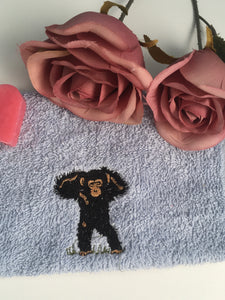 Monkey, chimpanzee, flannel, face cloth, wash cloth, gift set