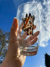 Load image into Gallery viewer, Giraffe tumbler , glass tumbler, giraffe gift idea
