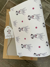 Load image into Gallery viewer, Dalmatian, wrapping paper, gift wrap, FOR SMALLER GIFTS