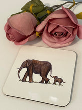 Load image into Gallery viewer, Elephant mug, mug and coaster set, gift idea