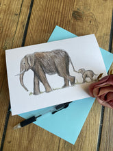 Load image into Gallery viewer, Elephant card,greetings card