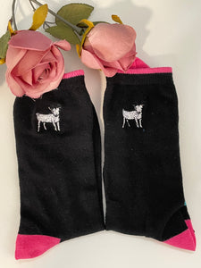 Goat socks, ladies goat socks, goat gift idea, READ DESCRIPTION