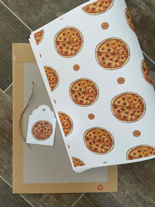 Pizza wrapping paper, gift wrap, FOR SMALLER GIFTS
