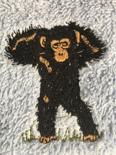 Load image into Gallery viewer, Monkey, chimpanzee, flannel, face cloth, wash cloth, gift set