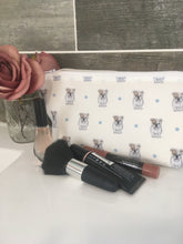 Load image into Gallery viewer, English bulldog, British bulldog, makeup bag, cosmetics bag