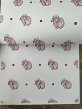 Load image into Gallery viewer, Rabbit, bunny rabbit, wrapping paper, gift wrap, for rabbit lovers READ DESCRIPTION