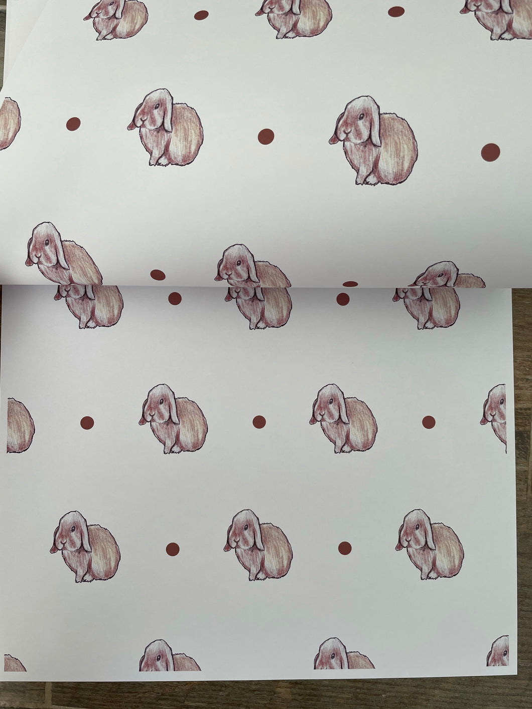 Rabbit, bunny rabbit, wrapping paper, gift wrap, for rabbit lovers READ DESCRIPTION