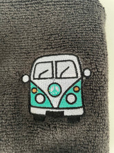 Load image into Gallery viewer, Campervan flannel, face cloth, wash cloth, gift set, campervan gift idea