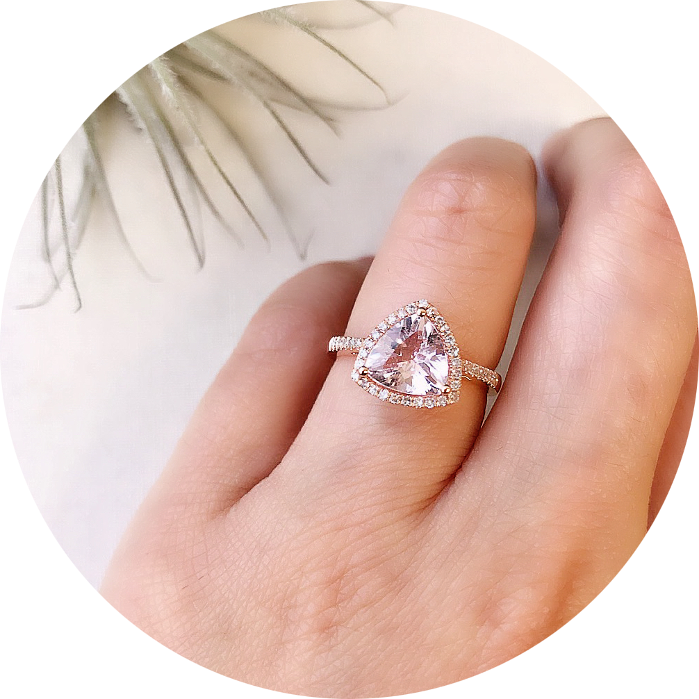 morganite is an amazing choice of stone for alternative bridal