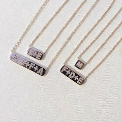 plaque personalized initial necklaces
