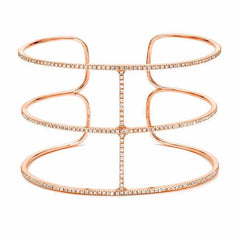 royal cuff with diamonds in rose gold