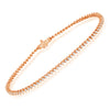 small diamond tennis bracelet in 14k rose gold