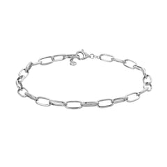 hand made chain bracelet in 14k white gold