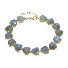 heart shaped labradorite tennis bracelet