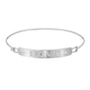 love plaque bangle in white gold with diamonds