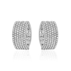 wide micropave diamond huggies