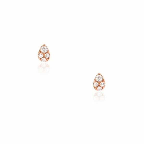 petite teardrop post earrings in rose gold
