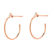 Souli 15mm top diamond hoops in 14k rose gold