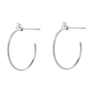 Souli 15mm top diamond hoops in 14k white gold