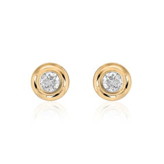 Classic Diamond Bezel Post Earrings