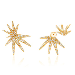 ray of sunshine micropave earrings