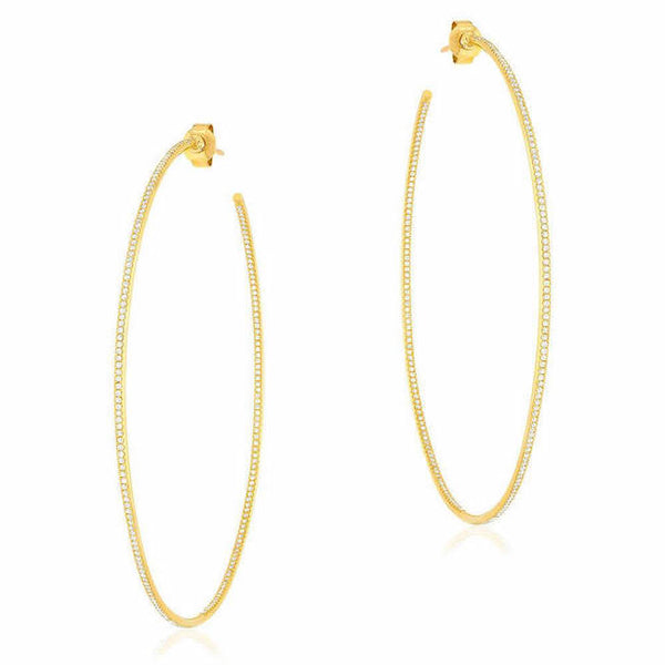 65mm in & out hoop earrings with diamonds in yellow gold