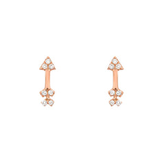 petite arrow posts in rose gold