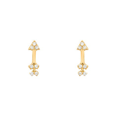 petite arrow posts in yellow gold