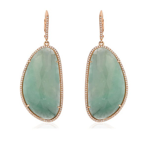 One of a Kind Emerald Drop Earrings