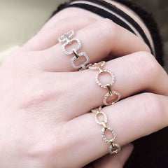 Chain Circle Eternity Band