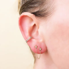 star chain drape studs