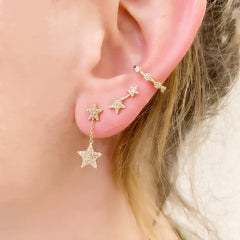 shooting star post earrings